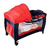 Infant Crib Playpen,Portable Play Yard Folding Baby Bassinet Bed Playard