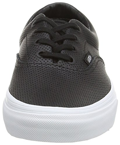 Black Vans Era Adulto perf Black Leather Unisex Zapatilla Baja 1Sw18f