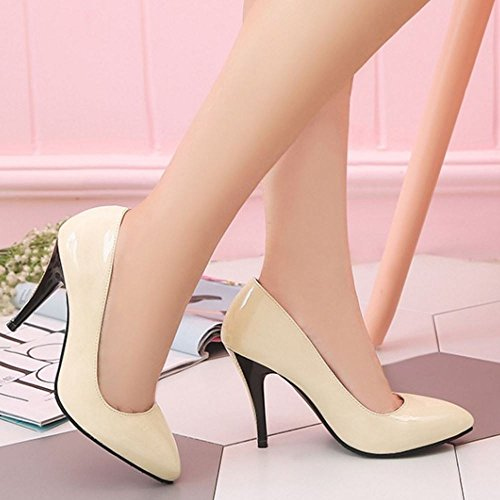 High Beige Fashion Pumps Coolcept Women Heel pawqO