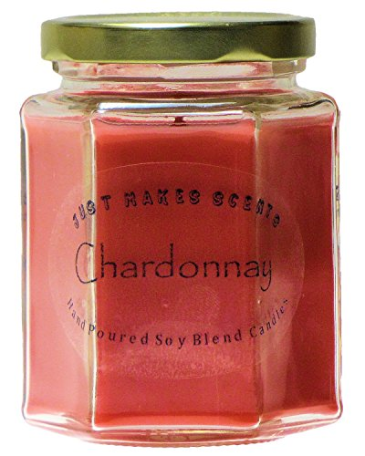 Chardonnay Scented Blended Soy Candle by Just Makes Scents (8 oz) ()