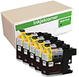 Inkjetcorner 5 Pack Black Compatible Ink Cartridges Replacement for LC203BK LC203XL Works with MFC-J460DW MFC-J480DW MFC-J485DW MFC-J680DW MFC-J880DW MFC-J885DW
