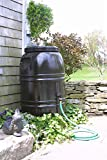 Painted Rain Barrel - Dark Earth Brown