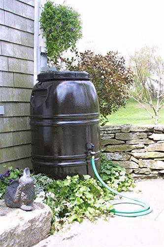 Painted Rain Barrel - Dark Earth Brown