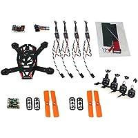 QWinOut DIY Drone Combo Set BNF QQ Super 150mm Mini RC Quadopter H150 Carbon Fiber Frame 3100KV CW/CCW Motor BLHeli OPTO 16A ESC 3030 Props