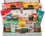 Low Carb Keto Snacks Box (20 Count) - Ketogenic Friendly, Gluten Free, Low Sugar - Healthy Keto Gift Box Variety Pack - Protein Bars, Pork Rinds, Cheese Crisps, Nuts, Jerky, Seeds