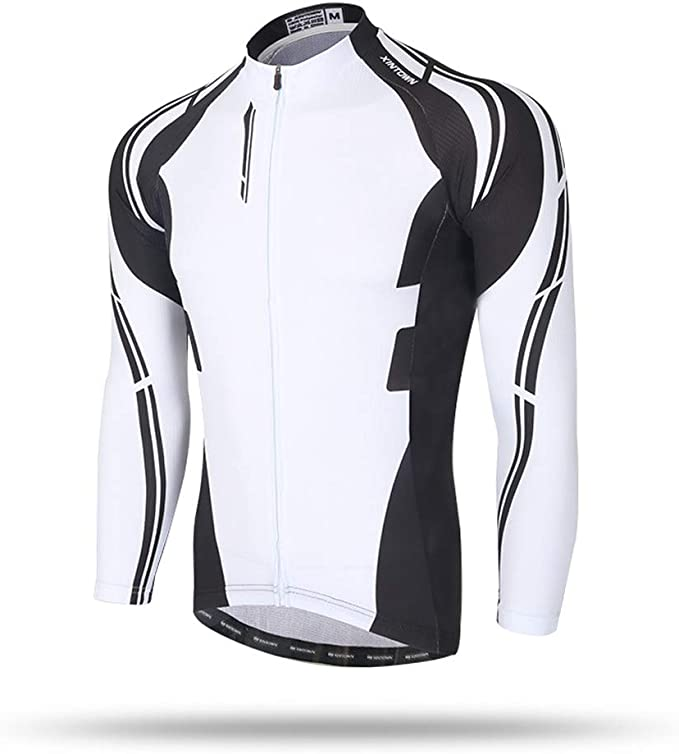 Pinjeer Black And White Design Jersey 100 Polyester Cycling Clothing Breathable Only Shirt Jersey Men Long Sleeve For Spring Autumn Outdoor Racing Bike Amazon Co Uk Clothing