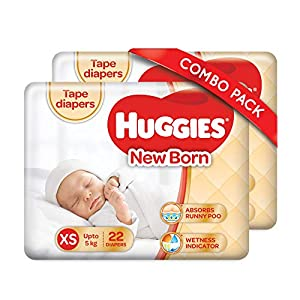 Huggies Taped Diapers, New Born...