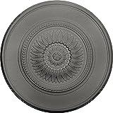 Ekena Millwork CM41FLSLS 41 1/8'' OD x 2 1/2'' P Large Floral Ceiling Medallion, Silver