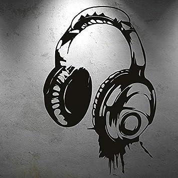 Personalità design creativo musica cuffie musica fan adesivi ...