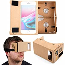 Google Cardboard Virtual Reality Headset - Compatible with the NEW Apple iPhone X, 8, 8 Plus, 7, 7 Plus, 6S, 6S Plus, 6 Smartphones – by DURAGADGET