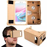 DURAGADGET Google Cardboard Virtual Reality Headset - Compatible with The Apple iPhone X | 8 | 7 | 6S & 6