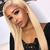 613 27 4 lace front wig - Wowsexy Hair Full Lace Wig #613 Blonde for Women with Baby Hair Glueless Brazilian Virgin Human Hair Wigs Straight (24