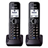 Panasonic KXTGA950B Dect 6.0 Handset 2-Line Landline Cordless Telephone (2-Pack)