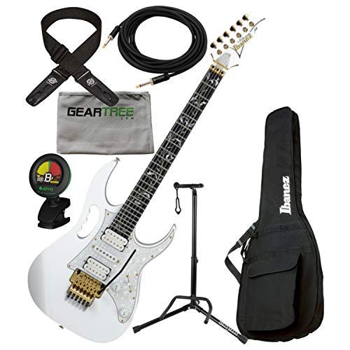 Ibanez JEM7VPWH Steve Vai Signature Electric Guitar w/Bag, Tuner, Cloth, Dlx Cab