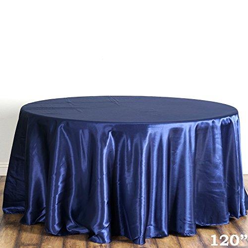 """BalsaCircle 120"""" Round Satin Tablecloth for a Wedding Party"""