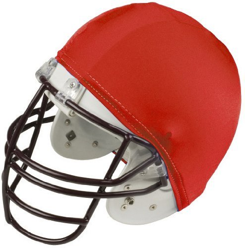 Champion Sports Football Helmet Covers Color: Red (HCRD) (Set Of 12) ()