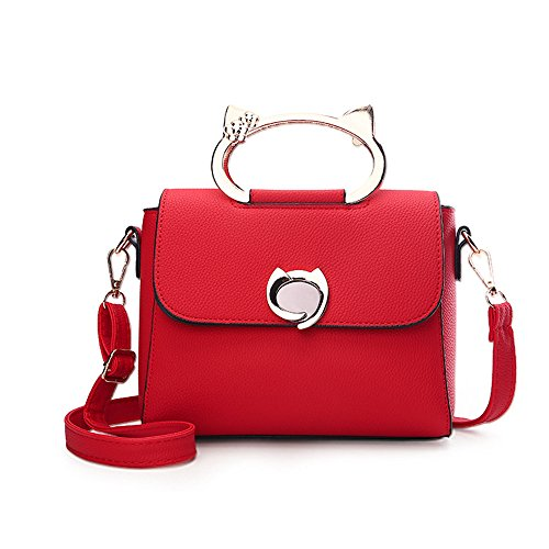 a Fashion Small Small Square a Borsa The Capacity tracolla Sweet tracolla Bag rossa Elegant Allhm Tote Oxn4qwaHq