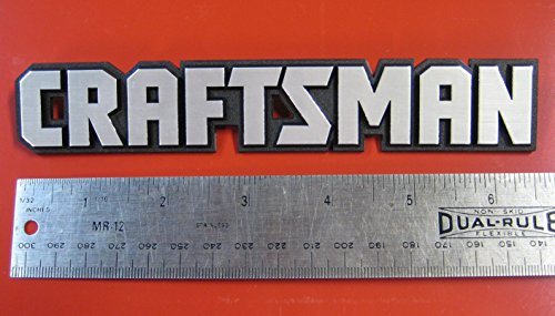 Sears Craftsman Tool Box Badge Large Size for Chest or Cabinet Emblem Decal Sticker Logo ()