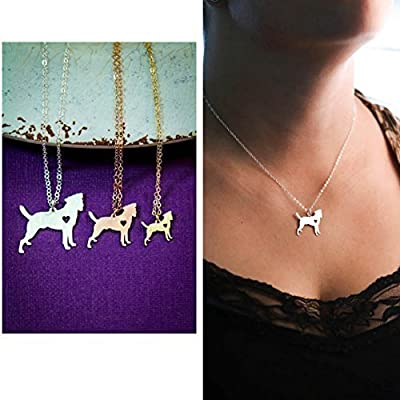 Jack Russell Terrier Necklace - IBD - Dog Lover Gift - Handmade Necklace - 1, 3/4, 1/2 Inch 25.4MM, 19MM, 12MM Silver Pendants - Custom Name - Choose Chain Length - Choose Size - Fast 2 Day Shipping