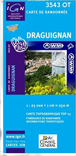 Lire un TOP25 3543OT ~ Draguignan carte de randonnée imperméable pdf, epub ebook