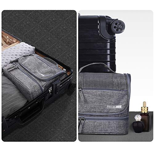 HOKEMP Toiletry Bag Travel Waterproof Cosmetic Bag Multifuncation Organizer Bag Portable Makeup Pouch - Gray by HOKEMP (Image #5)