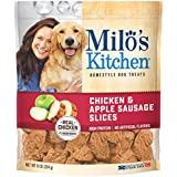 Milo's Kitchen Chicken & Apple Sausage Slices Dog Treats, 10-Ounce (Pack of 5)