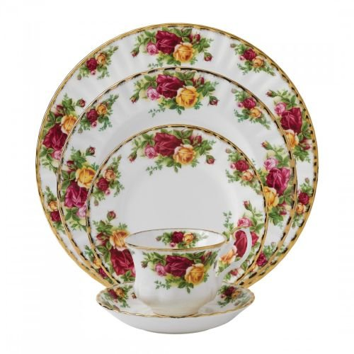 Royal Albert 15210002 Old Country Roses 5-Piece Place Setting, Service for 1