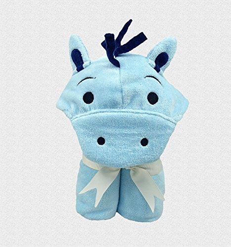 Baño Pony - toalla de bebé, diseño de conejos, color azul: Amazon.es: Bebé