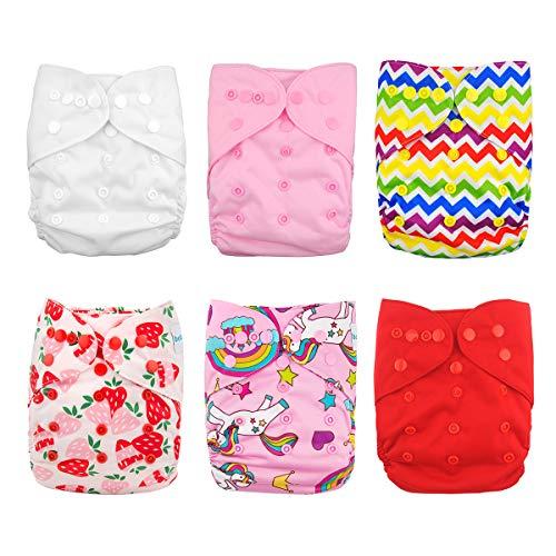 پوشک پوشک Babygoal برای دختران ، کاورهای قابل استفاده مجدد برای نوزادان برای پوشک و پوشک مناسب