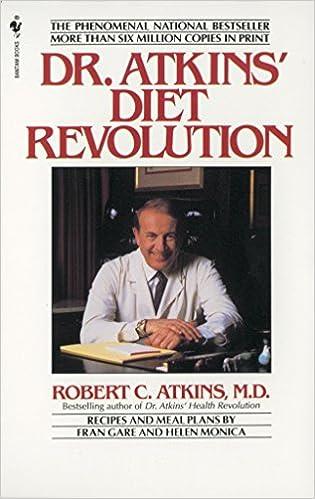 Dr Atkins Diet Revolution Robert C Atkins  Amazon Com Books
