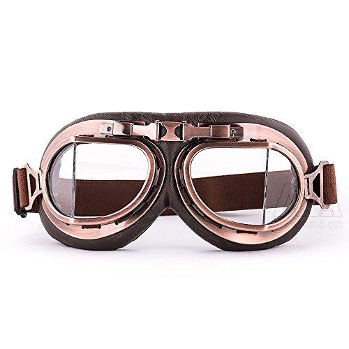 Leather Aviator Goggles - 7