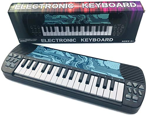 ELECTRONIC KEYBOARD WITH 8 SOUNDS EFFECT, 8 RHYTHM SOUNDS, VOLUME DOWN & UP, XYLOPHONE MODE, FLUTE MODE, MANDOLINE MODE, AUTO, MUSIC, STOP. RECORD, REPLAY !! WRITE & RECORD (COLOR: BLUE CIRCUIT) -