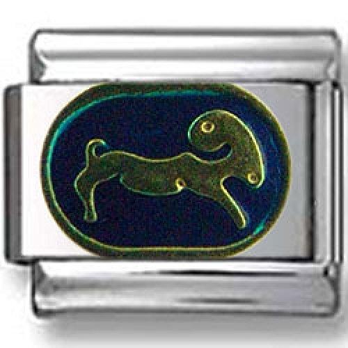 Capricorn Charm Italian - Turquoise Capricorn Italian charm