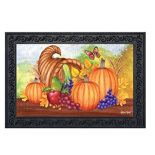 Horn of Plenty Thanksgiving Doormat Fall Cornucopia Indoor Outdoor 18