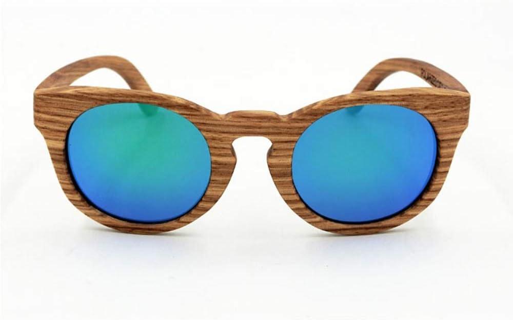 BXGZXYQ Gafas de Sol de bambú Vintage para Mujer Gafas Premium Unisex de TAC Gafas de Sol de Moda para Mujer, Gafas de Sol Estilo Calle para Viajes al Aire Libre (Color : Verde)