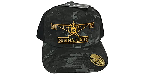 96f60004e0f Guanajuato The Airplane 2 logos El Avino Del Chapo Guzman Hat Digital Mesh  at Amazon Men s Clothing store