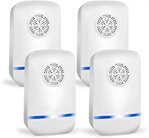 Ultrasonic Pest Repeller Plug in Pest Control - Mice Repellent & Rat Repellent in Pest Repellent - Bug Repellent for Ant,Mosquito,Mice,Flea,Fly,Spider,Roach,Rat - No More Trap & Bait [4 Pack]