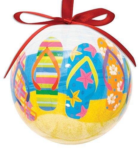 Flip Flop Design Hanging Ball Ornament High Gloss Resin (Resin Flip Flop)