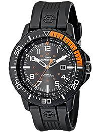 Men's T49940 Expedition Uplander Black/Orange Resin Strap Watch