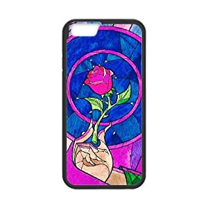 Personalized Durable Cases iPhone 6 4.7 Inch Black Phone Case Hldhr Beauty and the Beast Protection Cover