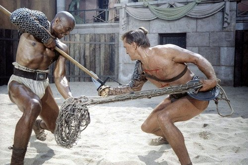 Spartacus Kirk Douglas Woody Strode 24X36 Color Poster Gladiator Fight Scene (Best Spartacus Fight Scenes)