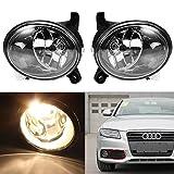 audi a4 b8 headlight bulbs - Clear Lens Fog Light Driving Lamp with H11 Bulb 55W for 2009-2012 Audi A4 S4 B8 Sedan (One Pair, Left + Right)