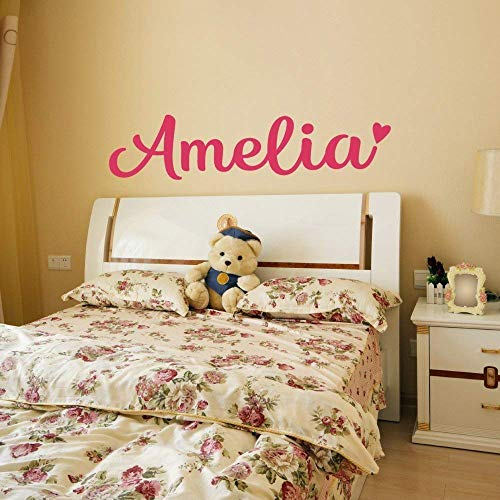 - Personalized Custom Name Vinyl Wall Decal Sticker for Girls