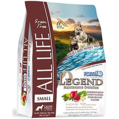Forza10 Legend All Life Small or Medium Large Breed Dog Food, Wild Caught Anchovy Flavor, Grain-Free Dry Dog Food, 2 Pound Ba