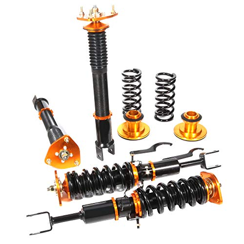 SCITOO Coilover Suspensions Shock Struts Kits Assembly Full Set Shocks Struts Kits fit 2003-2008 Infiniti G35(Only Coupe Model)/2003-2009 Nissan 350Z (Best Coilovers For G35)