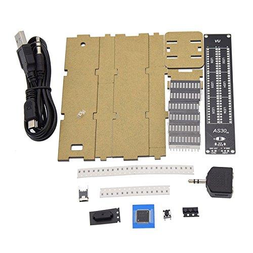 TOOGOO DIY AS30 30 Segment Stereo Music Spectrum Analyzer LED Level Display Kits VU Mete