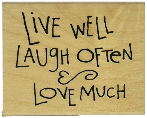 Rubber Stamp With Wood Handle, Dawn Houser Live/Laugh/Love