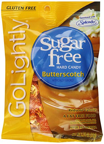 - Go Lightly Butterscotch Sugar Free Hard Candy, 2.75 Ounce (Pack of 12)