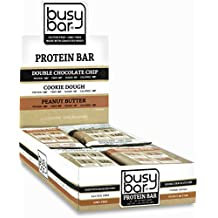 Busy Bar Grass Fed Whey Protein Bars, Variety Box, Only 1g of Sugar, 13g of Protein, Gluten Free, Low Carb Bar, Soy Free, Non-GMO, Perfect Snack On-the-Go (12 bars)