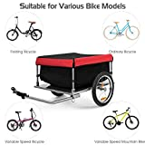 Goplus Cargo Bike Trailer, Folding Frame Quick